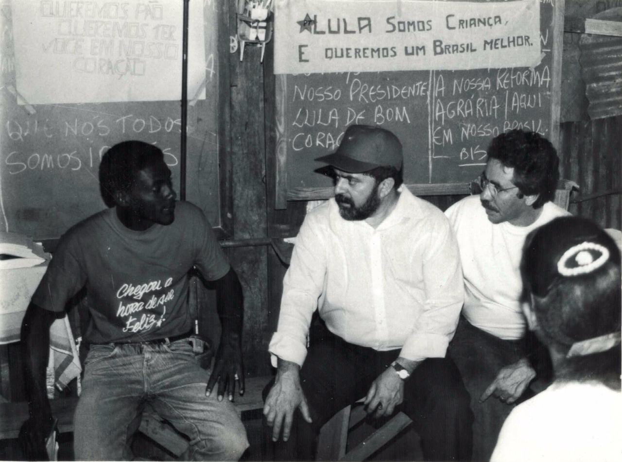 Foto de caravana do Lula por Minas Gerais em 1994