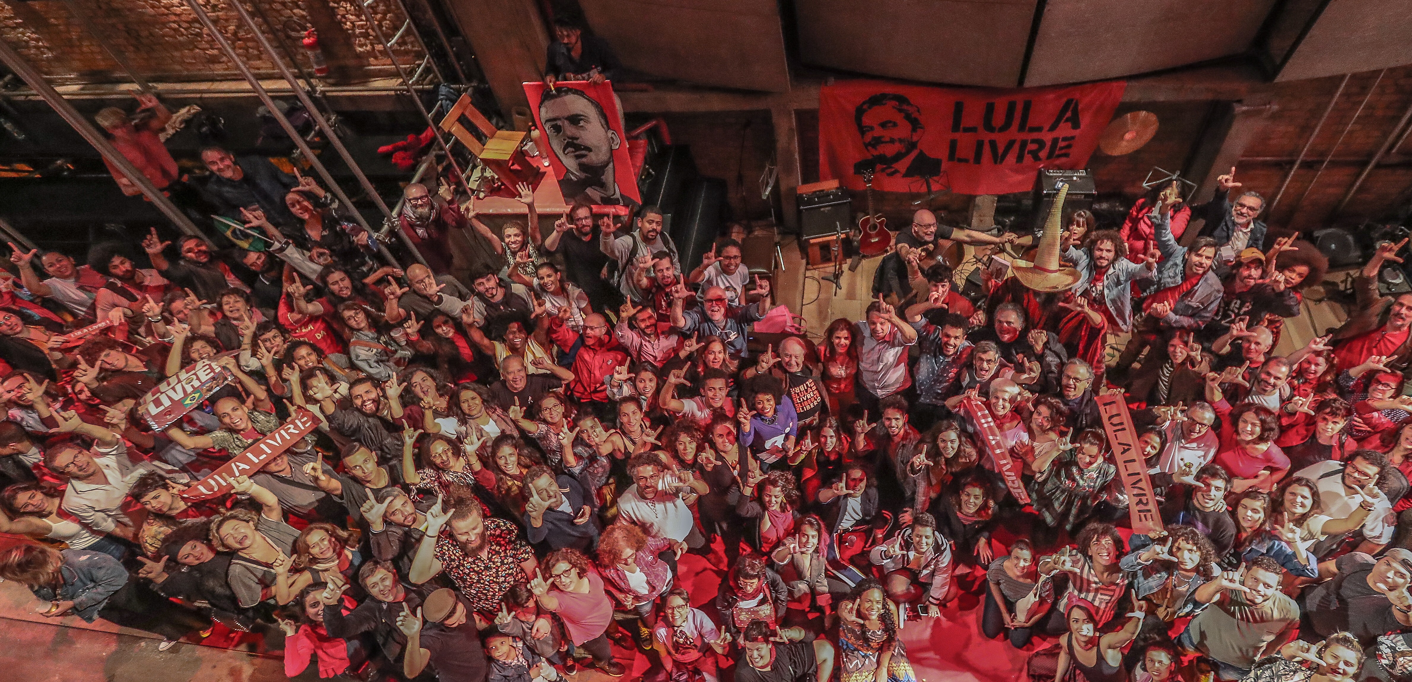 ''Esquenta'' para o Festival Lula Livre, contou com a participação de diversos artistas, políticos e líderes de movimentos populares - Créditos: Ricardo Stuckert